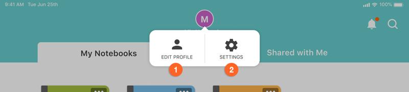 profile management popup