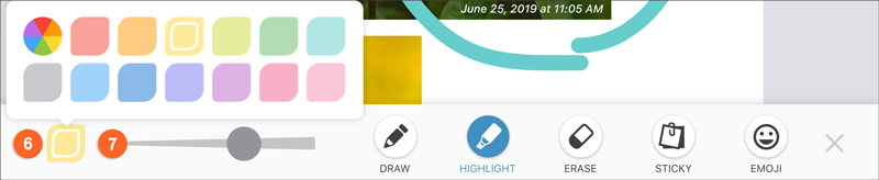 highlight tool (color selector)